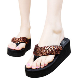 $enCountryForm.capitalKeyWord Australia - Women Girl Fashion Summer Sequins Anti-Slip Sandals Slipper for Indoor Outdoor Shoes Woman Flip Flops Summer House Slippers