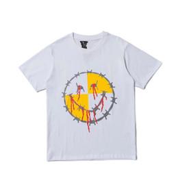 7b4629987 Smile tShirt online shopping - Vlone tshirt brand mens designer tshirts  horror smile bloody print T