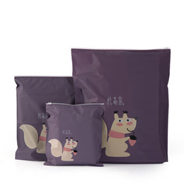 Fox Clothing Wholesale UK - 1PC Rabbit Duck Fox Squirrel Pattern Travel Pouch Portable Storage Bag Waterproof Shoes Clothing Closet Underwear Storage