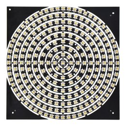 rgbw panel Australia - WS2812B 5V SK6812 RGBW Magic pixel rigid round Circular car light Panel led strip light Cold White 241 leds