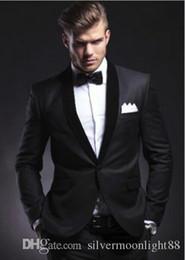 Charcoal Navy Suit Australia - High Quality Charcoal Grey Men Wedding Tuxedos Excellent Groom Tuxedos With Shawl Lapel Men Blazer 2 Piece Suit(Jacket+Pants+Tie+Girdle)135
