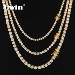 $enCountryForm.capitalKeyWord Australia - Uwin 3mm 4mm 5mm Round Cut Iced Out Cubic Zirconia Tennis Link Chain Hiphop Top Quality Cz Box Clasp Necklace Women Men Jewelry J190620
