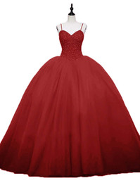 quinceanera dresses UK - 2019 Sexy Crystal Beading Ball Gown Quinceanera Dresses Lace Up Plus Size Tulle Sweet 16 Dresses Debutante 15 Year Formal Party Dress BQ155