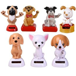 say toys Australia - 1Pc Pet Dog Say Hello Non Electric Shaking Head Solar Power Toys for Children Car Desktop Decor Cute Birthday Christmas Gifts