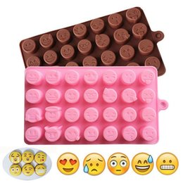 Home & Garden Top Sale 28 Holes Qq Expression Chocolate Molds Silicone Cute Lovely Emoji Expression Fondant Chocolate Molds Diy Baking Tools Special Summer Sale