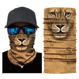 Lion masks online shopping - 3D Animal Lion Ski Mask Snowboard Scarf Neck Warmer Balaclava Bandana Face Mask Bike Cycling Accessories