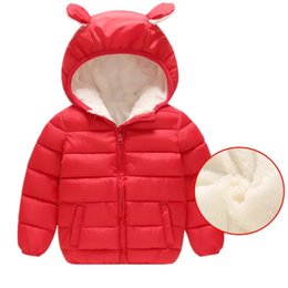 Hooded Winter Down Parkas Australia - good quality boys winter coats children boys cotton hooded thicken jackets casual plus velvet down&parkas warm outerwear clothing