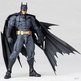 Batman Figure Wholesale Australia - REVOLTECH DC Action Figure Super Hero Figures Gear Joint Movable Gift For Children Boy And Girl High Quality 83hj D1