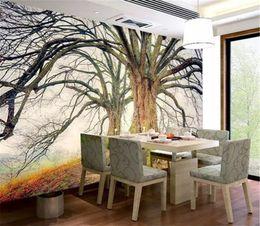 Live Wallpaper Hd NZ - 3d Wallpaper HD Winter Forest Big Tree Landscape Living Room Bedroom Background Wall Decoration Mural Wallpaper