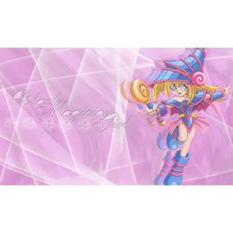 yugioh cards games Australia - 63X40CM YUGIOH Cards Playmat, Black Magician Girl Playmat, Board Games table playmat, YU-GI-OH Playmats Cards Sex Table Pad
