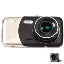 Toptan satış Full HD 1080 P 4 inç Sürüş Kaydedici Araba DVR Kamera Çift Lens Video Gece Görüş Otomatik Dash Cam Yüksek Kalite