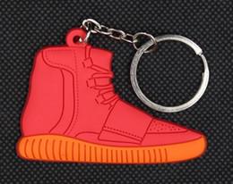 $enCountryForm.capitalKeyWord Canada - Sports star ball shoe key ring chain soft glue key ring chain football gift key chain custom