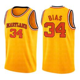 NCAA jersey Len 34 Bias Mens University high school Basketball Jerseys Embroidery Logos S-XXL on Sale