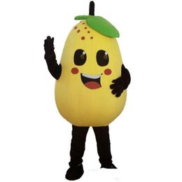 Vegetable adult costumes online shopping - High quality Fruits and vegetables pears mascot costume role playing cartoon clothing adult size