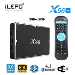 Wholesale android top hot tv online – design Hot X96H Allwinner H603 chip K Android TV Box with Dual HDMI Support Youtube WIFI Bluetooth Set top box PK X96MINI