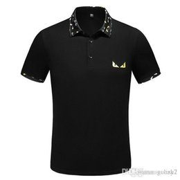 brand mens polo NZ - 2019 Polo Casual Stand Collar Male Polo Shirt Mens Printed POLO Shirts Cotton Short Sleeve Camisas m-xxxl New Brand Polos