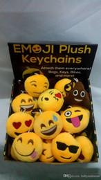 $enCountryForm.capitalKeyWord Australia - New Keychains 6cm Emoji Smiley Small pendant Emotion Yellow QQ Expression Stuffed Plush doll toy bag pendant for 2016 Christmas gift