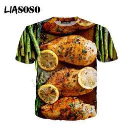 Wholesale LIASOSO latest D print polyester sportswear delicious Japan Korean cuisine barbecue chicken wings zipper hoodie CX694