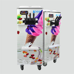 Commerical kitchen ETL CE 3 flavors soft serve ice cream machine already filled in full refrigerant with SS beater,gear box on Sale