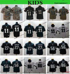 86 shirt online shopping - Youth Philadelphia Kids Eagles Carson Wentz Football Jerseys Zach Ertz Carson Wentz Malcolm Jenkins Chris Long Stitched Shirt