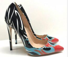 $enCountryForm.capitalKeyWord Australia - Color block Single shoes Cusp Fine heel Women's high heel shoes 8cm 12cm 10cm large size 44 wedding banquet dance Nightclub Red bottom shoes