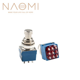 Footswitch Pedal Australia - NAOMI 2PCS Guitar Effects 3PDT 9-Pin Latching Stomp Pedal Footswitch Foot Switch Blue