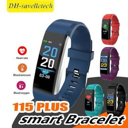 $enCountryForm.capitalKeyWord Australia - 2019 cheap price LCD Screen ID115 Plus Smart Bracelet Fitness Tracker Pedometer Watch Band Heart Rate Blood for sports fashion