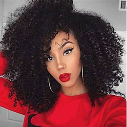 Afro Synthetic Curly Hair Weave Australia - Afro Kinky Curly Synthetic Wig Heat Resistant Fiber Simulate Human Scalp Synthetic Hair Wigs Deep Loose Curly Hair Weave No Lace Front Wig