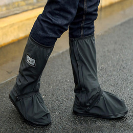 Motocicleta impermeável chuva Sapatos Covers Thicker Scootor antideslizantes Botas Covers - Black XL em Promoção