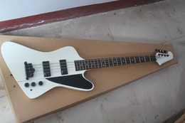 e basses NZ - Free Shipping Wholesale firebird electric bass guitar with White color, E M G pickup