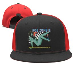 $enCountryForm.capitalKeyWord Australia - Rob Zombie American Made Music to Strip B Design Snapback Flat Brim Baseball Cap Hip-Hop Dad Hats Adjustable Summer