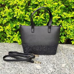 Red shining handbag online shopping - brand designer glitter purses Patchwork shining shoulder crossbody shopping bags pu women handbag totes with Shoulder strap
