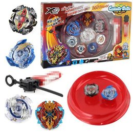 beyblade metal masters toys UK - 4pcs set Beyblade arena stadium Metal Fusion 4D Battle Metal Top Fury Masters launcher grip children christmas toy Y200109