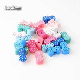 Kids Craft Making UK - 0pcs Lovely Bowknot Wood Spacer Beads For jewelry Making 20x10mm Multicolour Wooden Beads DIY Crafts Kids Toys Accessories 30pcs Lovely B...