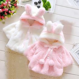 Discount newborn baby clothes for winter - Newborn Baby Girl Winter Warm Cape Toddler Coat Velvet Jacket Outwear Clothes for Toddler Girl 2019 New
