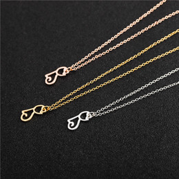 $enCountryForm.capitalKeyWord Australia - 10PCS Cute Pet Cat Necklace Hollow Outline Minimalist Small Animal Lovely Pussy Kitty Cat Pendant Chain Necklaces for Women Couple