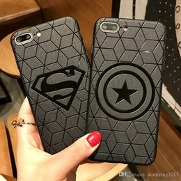 Superman Iphone 5s Case Australia - Marvel Deadpool iron Man Superman Case Cover for iPhone 7 8 Plus 6s 5 5s SE Phone Cases Avengers Spiderman Batman Coque Capinhas