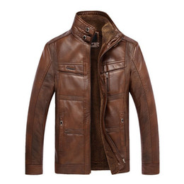 $enCountryForm.capitalKeyWord Australia - Brand New Mens Leather Jacket Men Thick Velvet Pu Jaqueta Couro Winter Coat Jackets Large Size Xxxl-4xl Coats