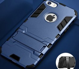 Phone Cases For Iphone 5c NZ - Case For Iphone 5c Hybrid Armor Protective Hard Pc Cover For Iphone 5s Se 5 S 5se Phone Cases With Stand Coque Fundas
