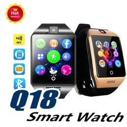 $enCountryForm.capitalKeyWord Australia - Smart Watch Q18 with Touch Screen camera sim card TF card Bluetooth Facebook smartwatch for Android and IOS Phone with retail package cheap