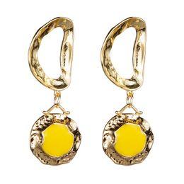 Alloy Findings Australia - Find Me 2019 fashion geometric alloy Dangle earrings Vintage boho drops oil Hollow out circular drop earrings for women Jewelry