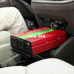 vehicle usb socket Canada - Freeshipping 1000W Car Vehicle DC 12V to AC 220V Power Inverter Adapter Converter w  USB Port   Dual Universal Socket - Red