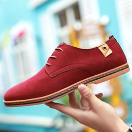Large Housing Australia - Spring and autumn new trading house British fashionable men's elegant leather shoes Oxford loafers leather leather suede plus large loafers