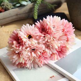 $enCountryForm.capitalKeyWord Australia - Artificial Flower Silk Gerbera Flowers Groom Bouquets Wedding Centerpieces Decorative Flowers Home Party Wedding Decorations 8 Color LYW3446