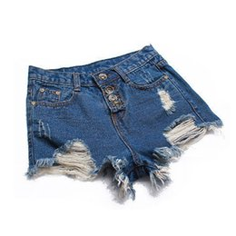 women booty xl 2019 - Sexy Women Mini Booty Shorts Denim Shorts 2019 Fashion Ladies Tassel Hole High Waist Summer Short Jeans For Woman 5 Colo