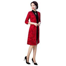 b7ecef2d3 Roupa chinesa moderna on-line-Xangai História Chinês Tradicional Roupas  Camurça Casaco de Tecido