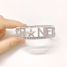 Luxury Chains Australia - Top Quality Silver Diamond Stars Luxury Designer Women Bangle Jewelry Bracelets Party Gift Bracelet Mens Bracelets Iced Out Chains