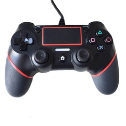 China Hot sale PS4 USB Wired Controller for PS4 Joystick Gamepads Gaming with 1.8M Cable Updated Version Grips free shipping cheap ps4 usb joystick suppliers
