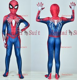 $enCountryForm.capitalKeyWord Australia - Kids  Child PS4 Spiderman Costume Insomniac Games Version Spider-Man Costumes 3D Printed Spandex Spider Cosplay Suit Free Shipping
