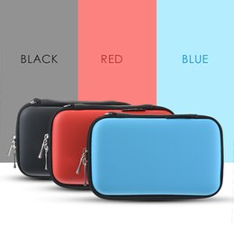 Plastic Carrying Hard Case NZ - New Zipper Earphone Case Leather Earphone Storage Box Portable USB Cable Organizer Carrying Hard Bag Coin Memory Card